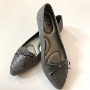 Coach and Four Gray Suede Loafer Flats 8.5